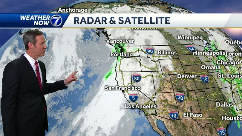 Stormy out west right now