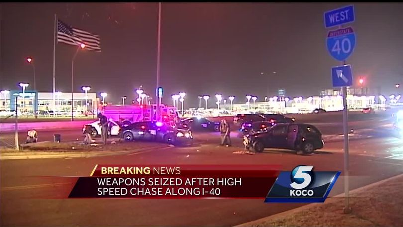 Driver arrested, weapons seized after high-speed chase on I-40