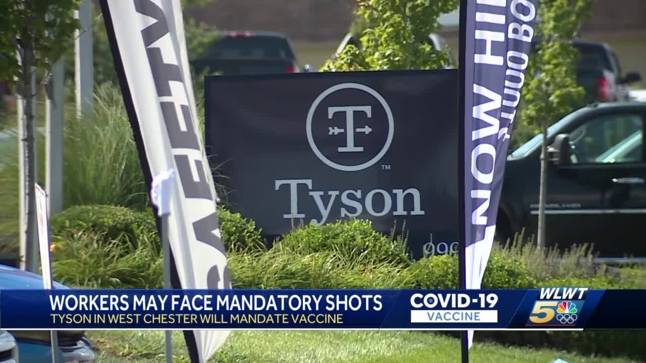 Tyson Foods implements mandatory COVID-19 vaccines for workers, including at plant in West Chester