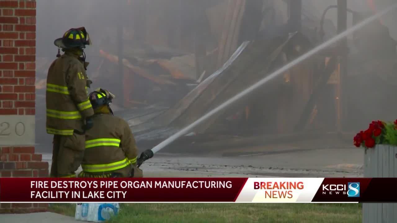 Fire destroys Lake City pipe organ manufacturer