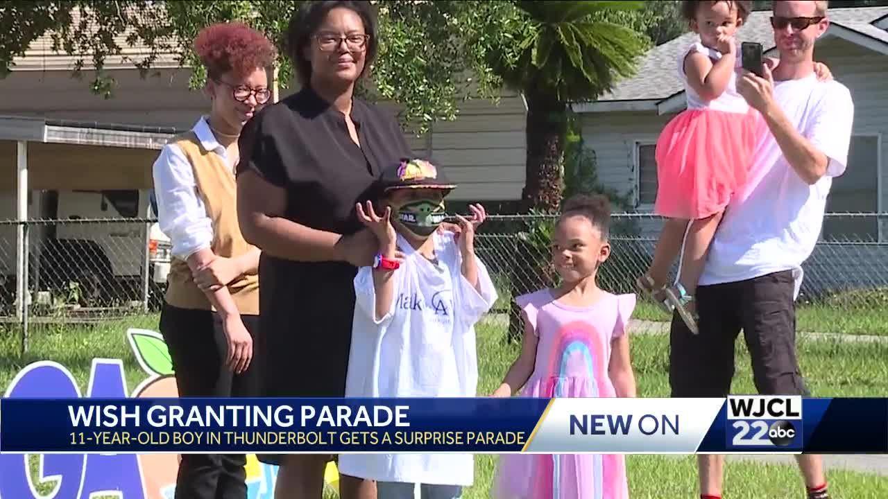 Thunderbolt Make-A-Wish child gets surprise parade