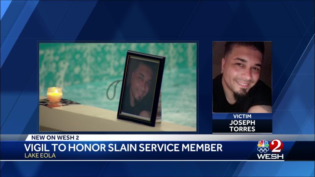 Vigil held to honor slain service member
