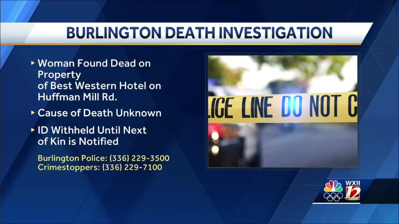 Burlington police investigating body found along woodline