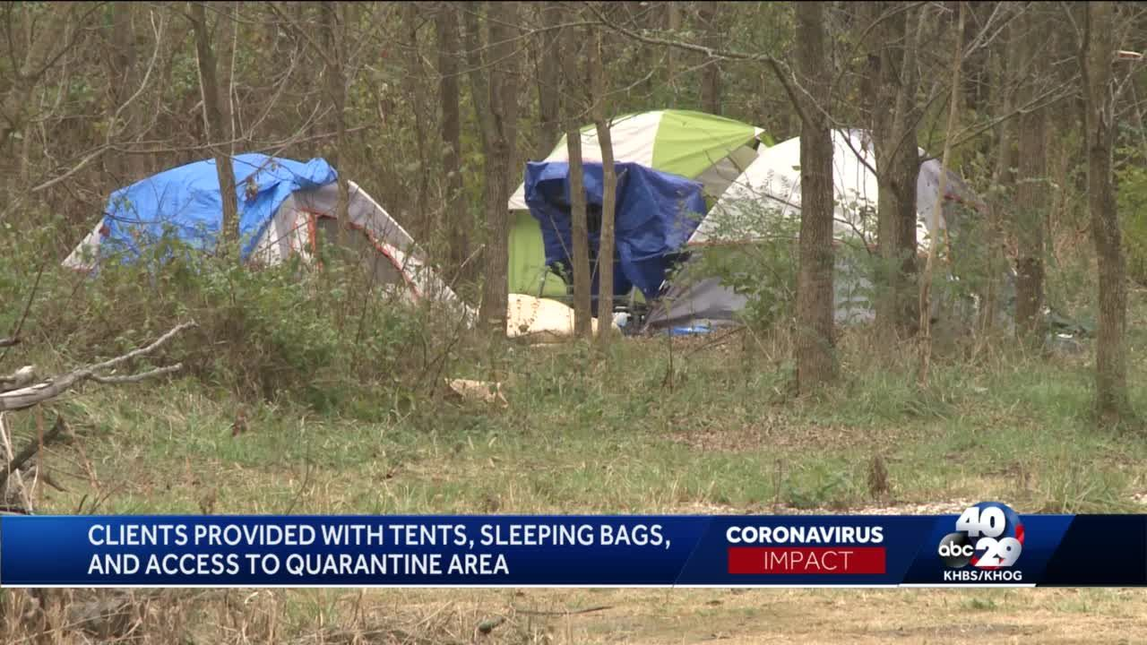Homeless Center in Fayetteville creates 'Safe Camp' during the pandemic