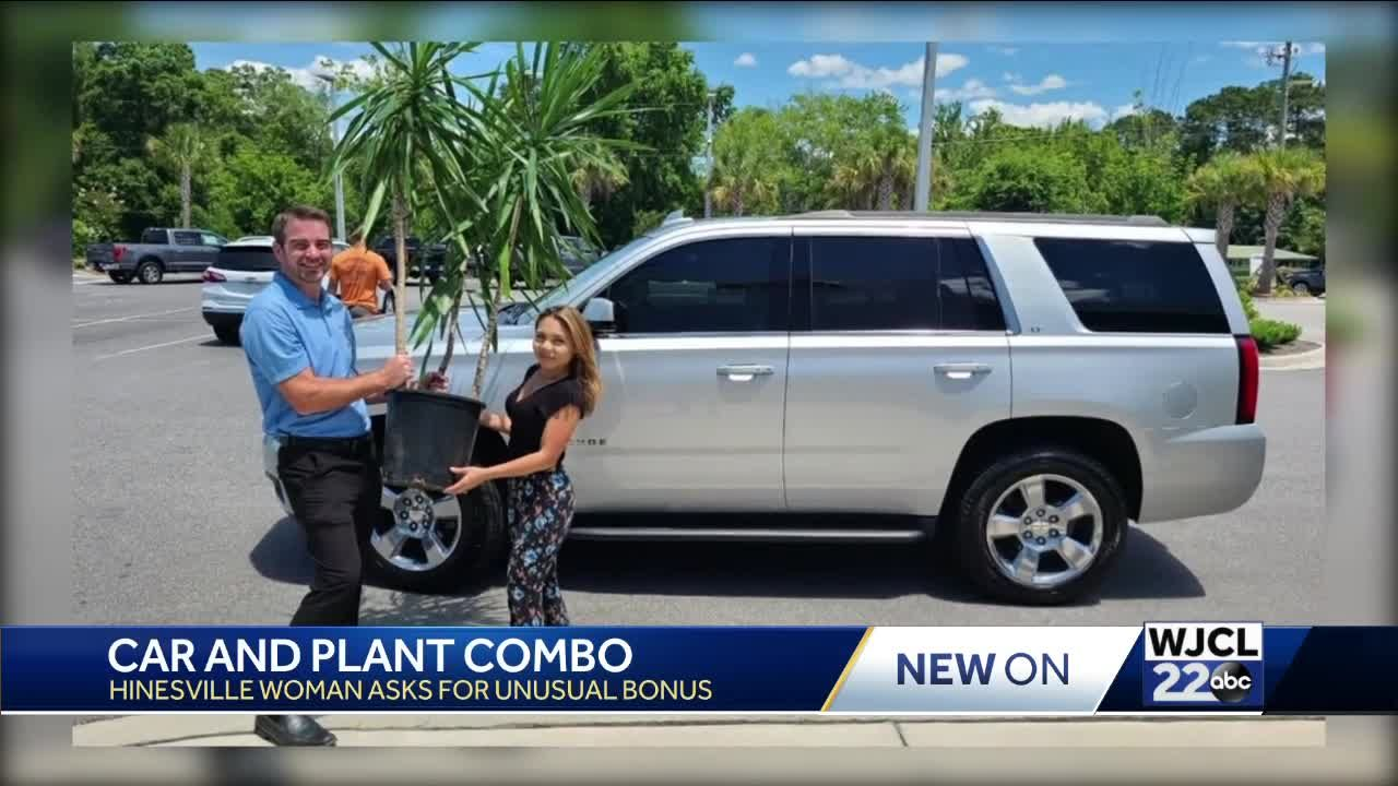 Hinesville woman snags plant as apart of her car deal