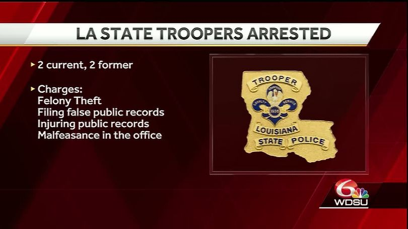 Two current, former LSP troopers accused of violating State