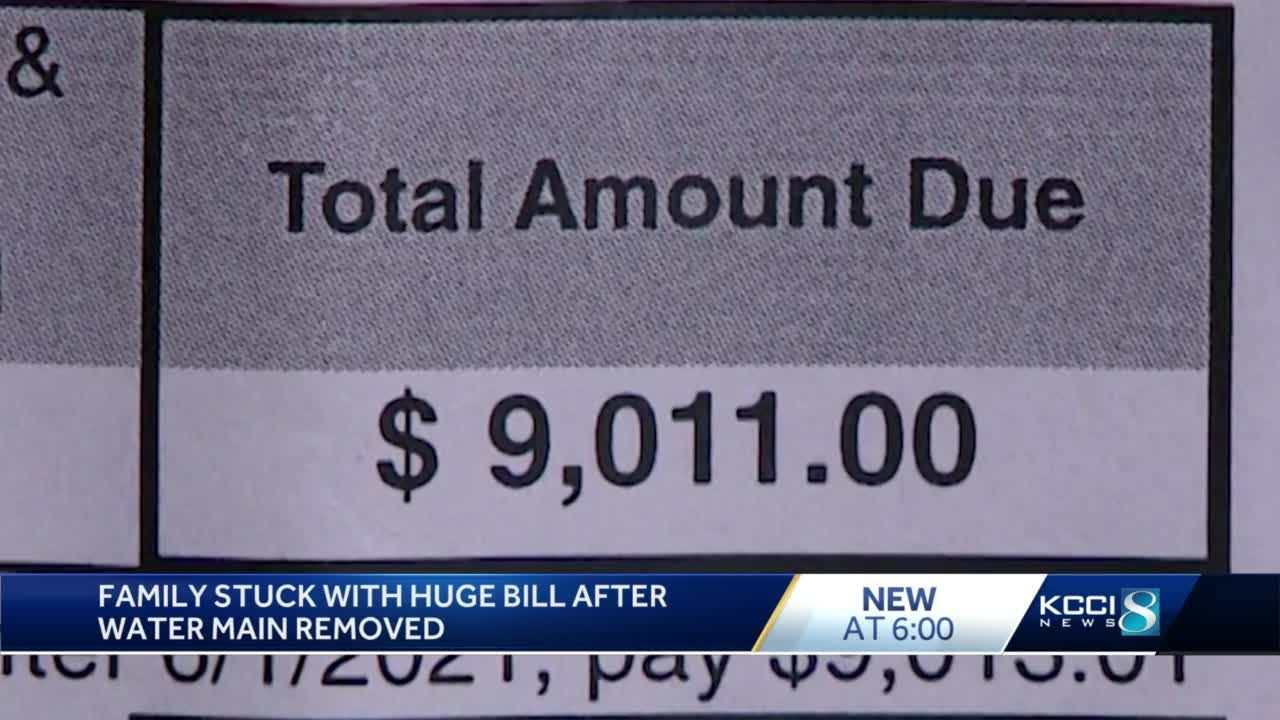 Central Iowa family has to pay over $9,000 to get their water back on