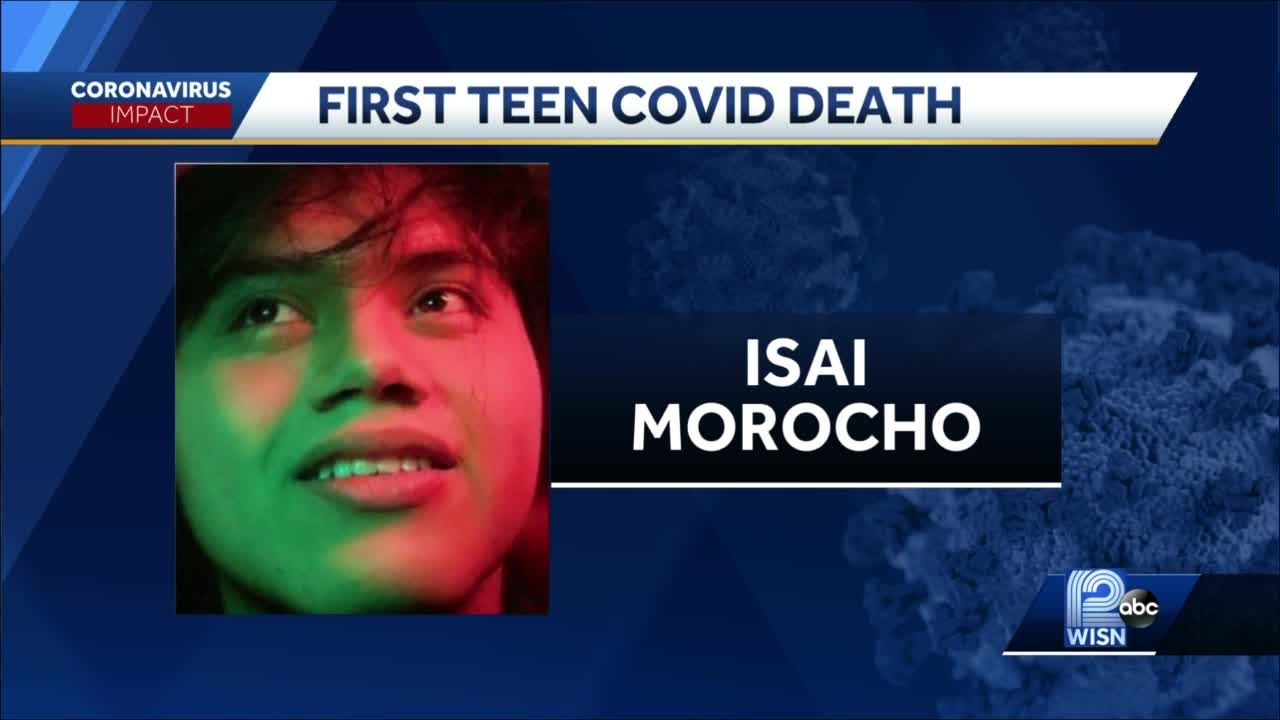 Wisconsin teen dies from COVID-19