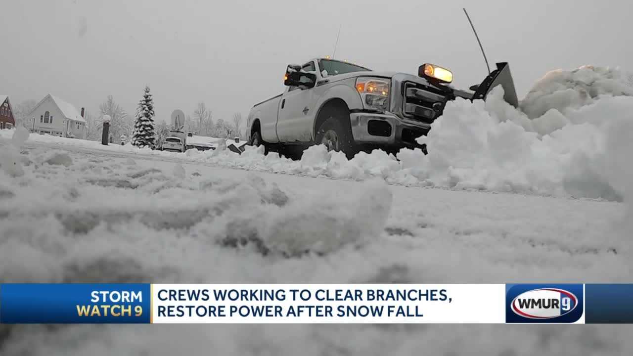 Crews work to clear branches, roads amid spring nor'easter