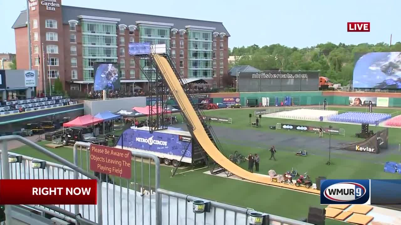 High Flying Nitro Circus Sets Up In Manchester