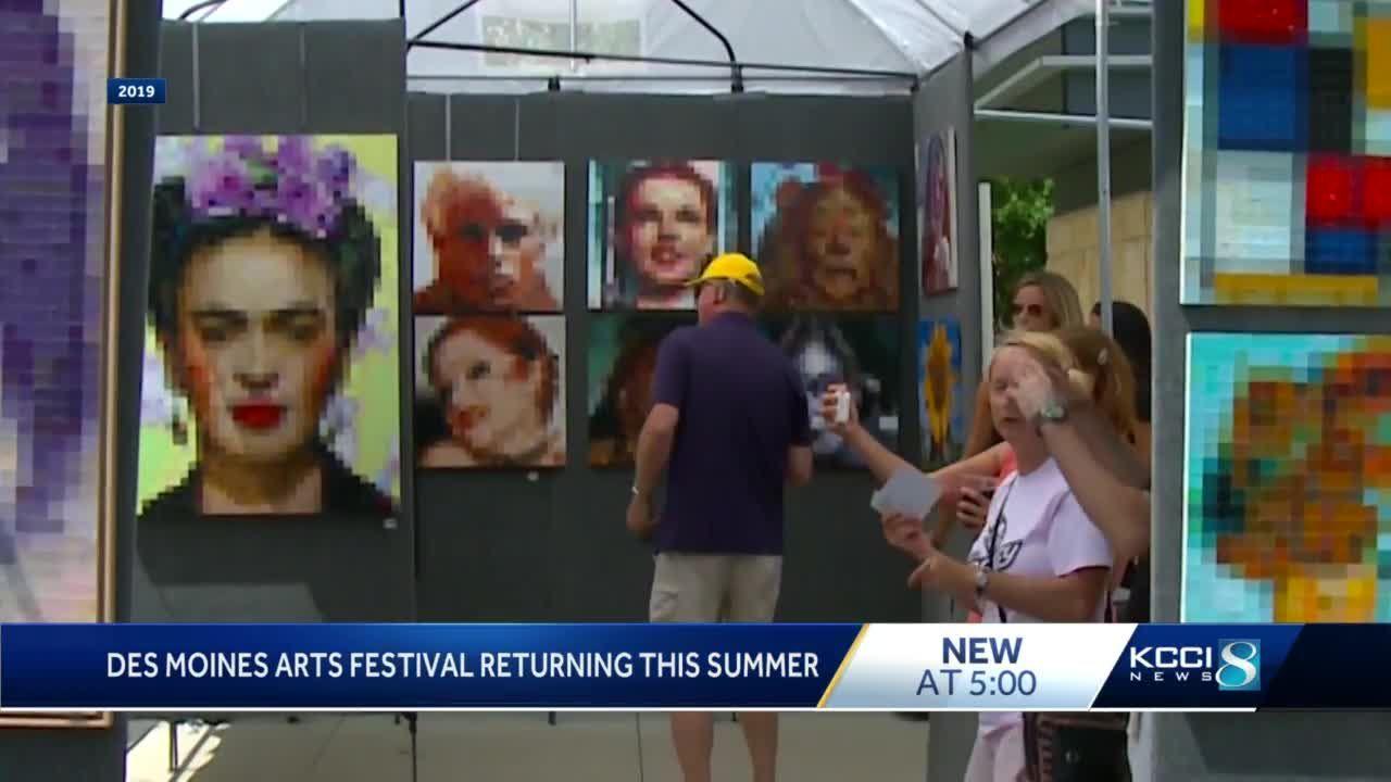 Des Moines Arts Festival returns to Western Gateway Park in 2021