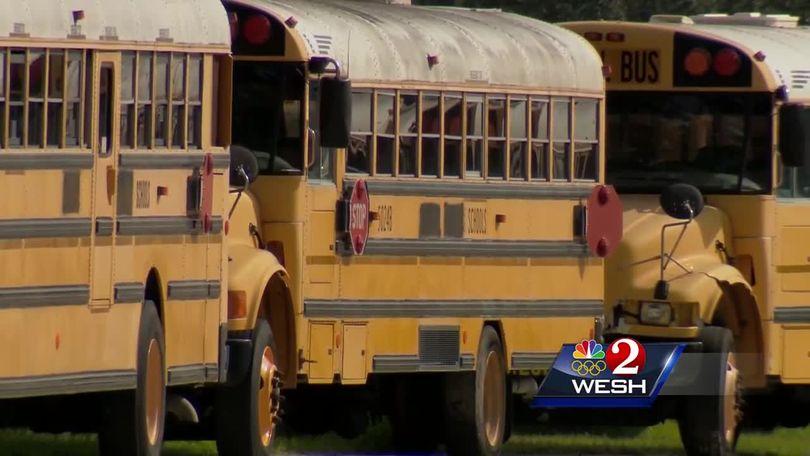 Osceola School Bus Drivers Protest Driver Shortage