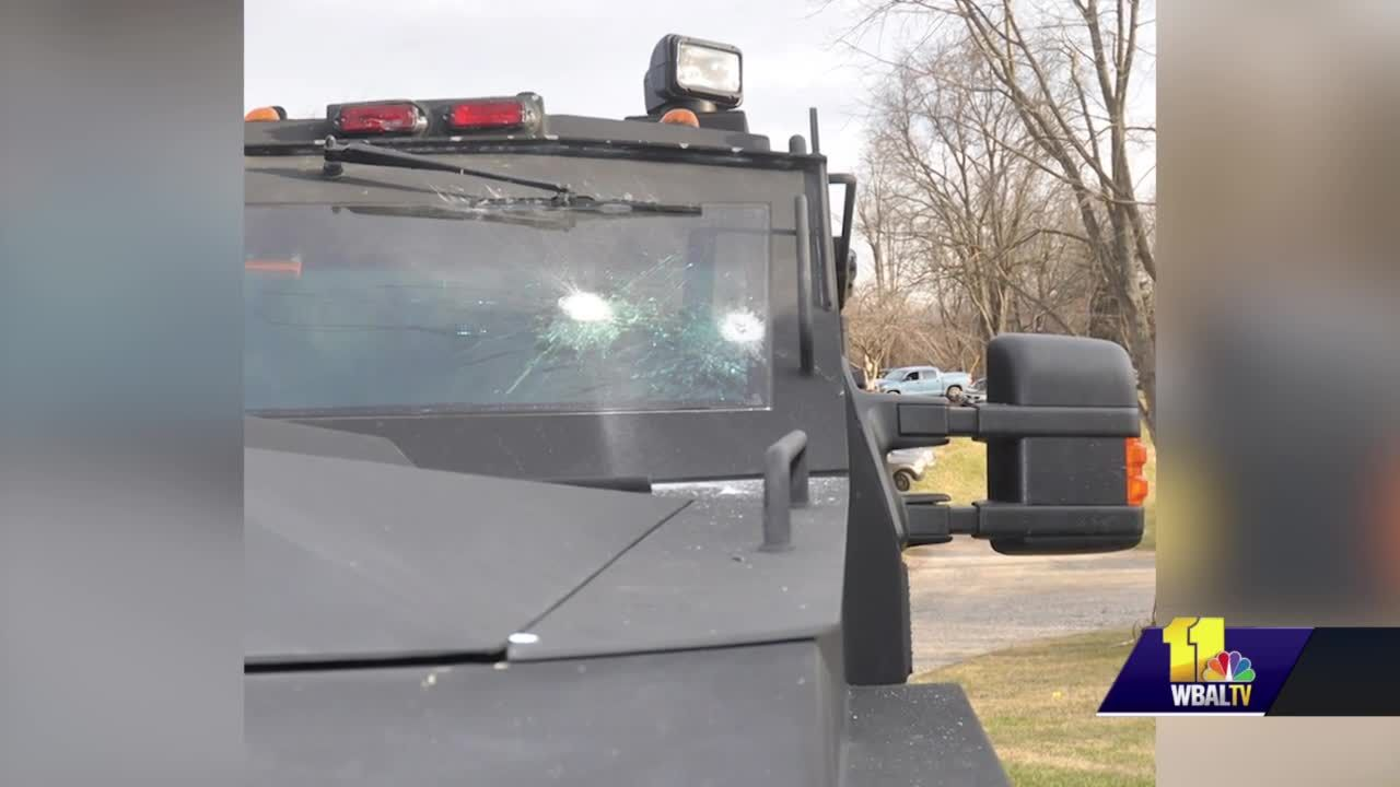 Mount Airy man shot through officer's windshield, police say