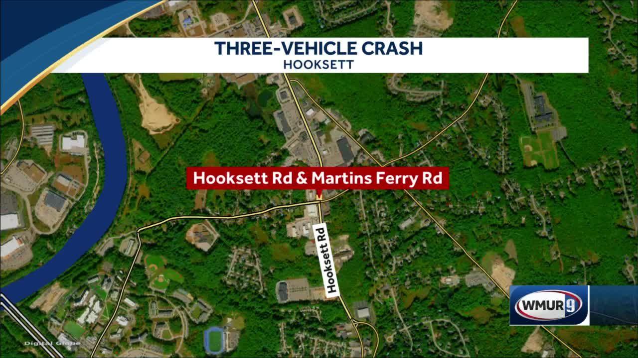 Motorcyclist injured after crash in Hooksett