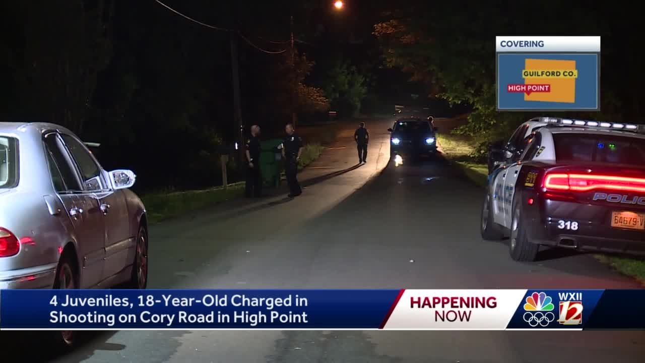 High Point police arrest five juveniles in connection to drive-by shooting