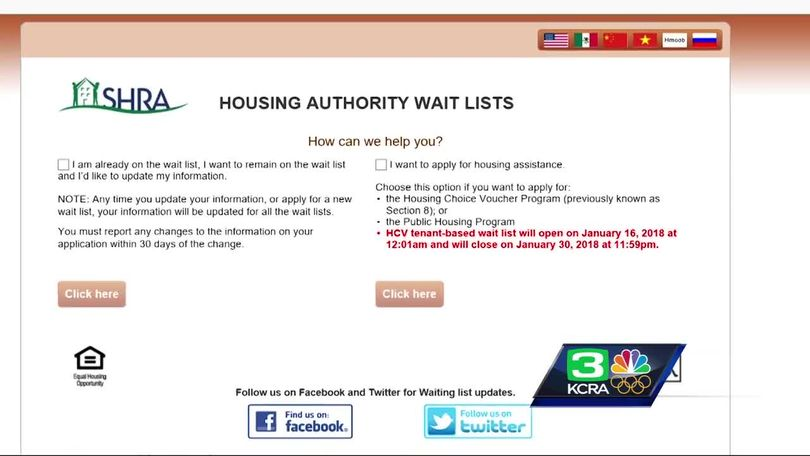 Wait List For Sacramento County Affordable Housing Vouchers Opens
