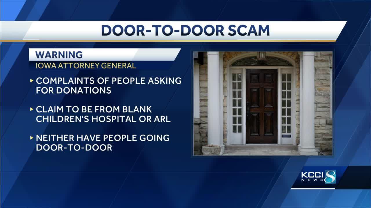 Iowa AG warns of door-to-door scams