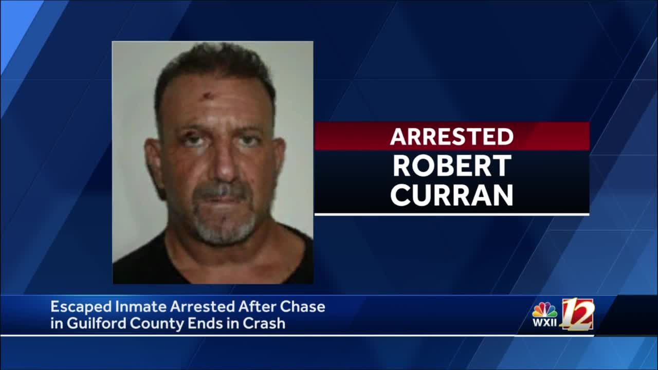 Guilford County high-speed chase ends in crash, escaped inmate arrested