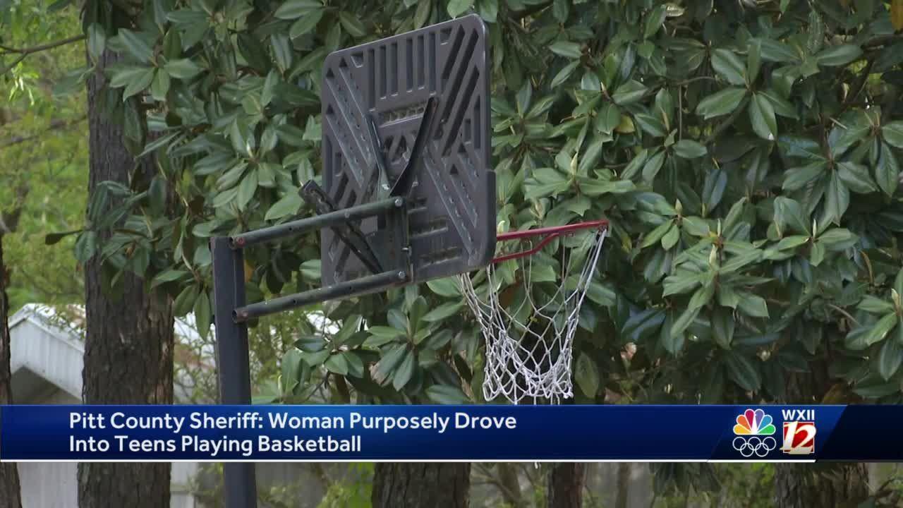 North Carolina sheriff: Woman purposely drove into teens playing basketball