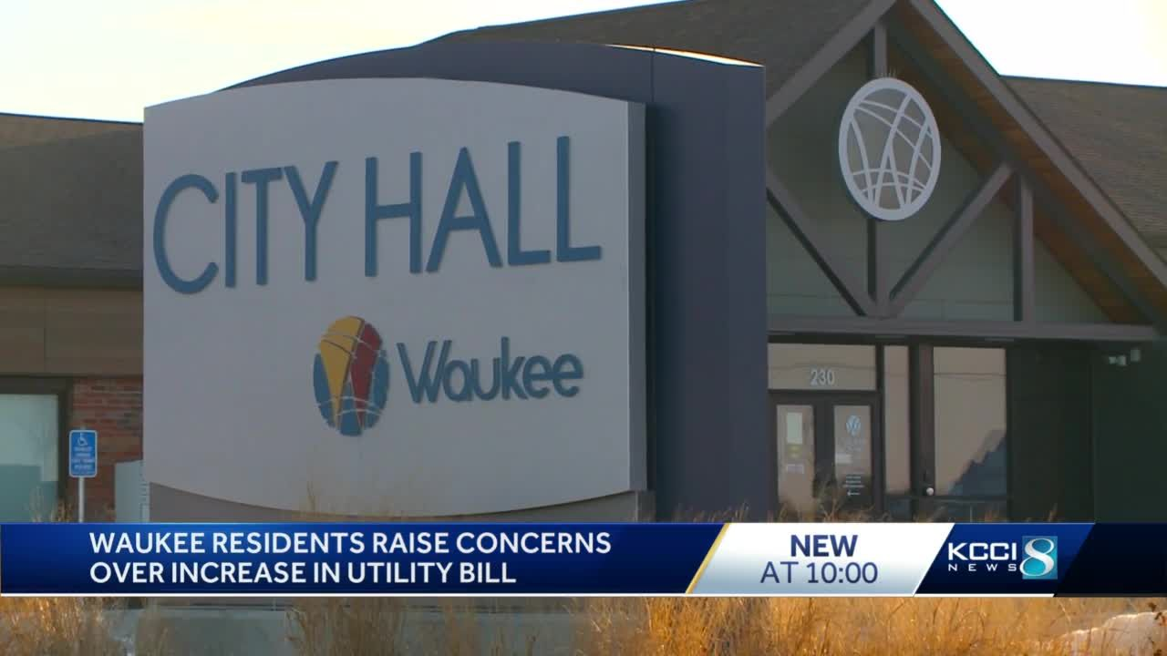 Waukee residents raise concerns over increase in utility bill