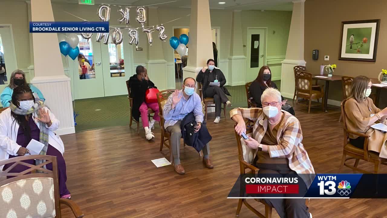 senior living homes give second covid shot