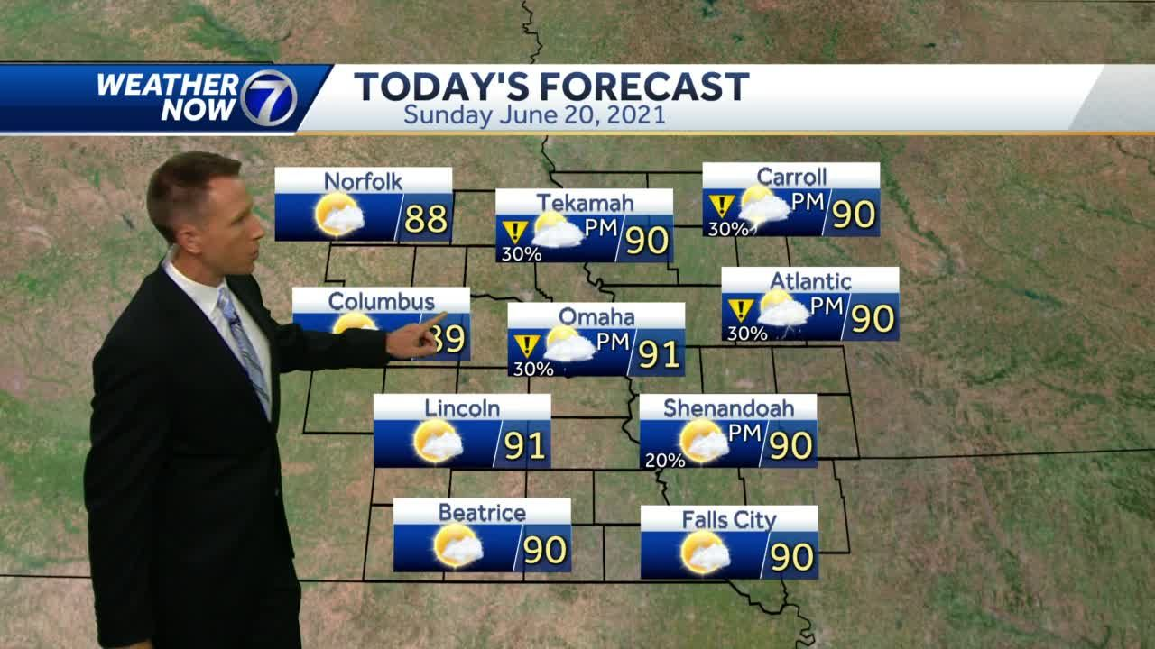 Another small chance for storms ahead Sunday afternoon