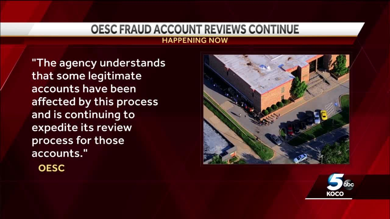 Money being deposited into unemployment accounts of Oklahomans dealing with frozen benefit cards