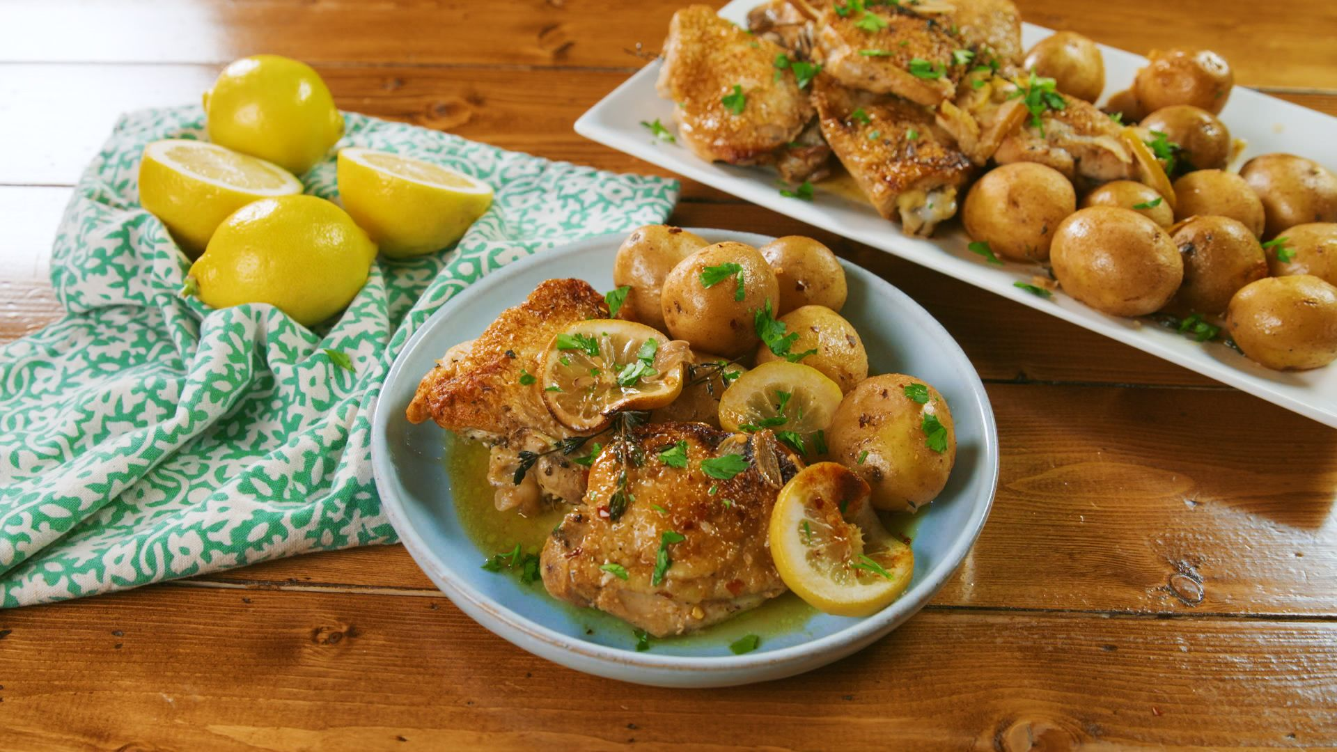 Slow Cooker Lemon Butter Chicken & Potatoes