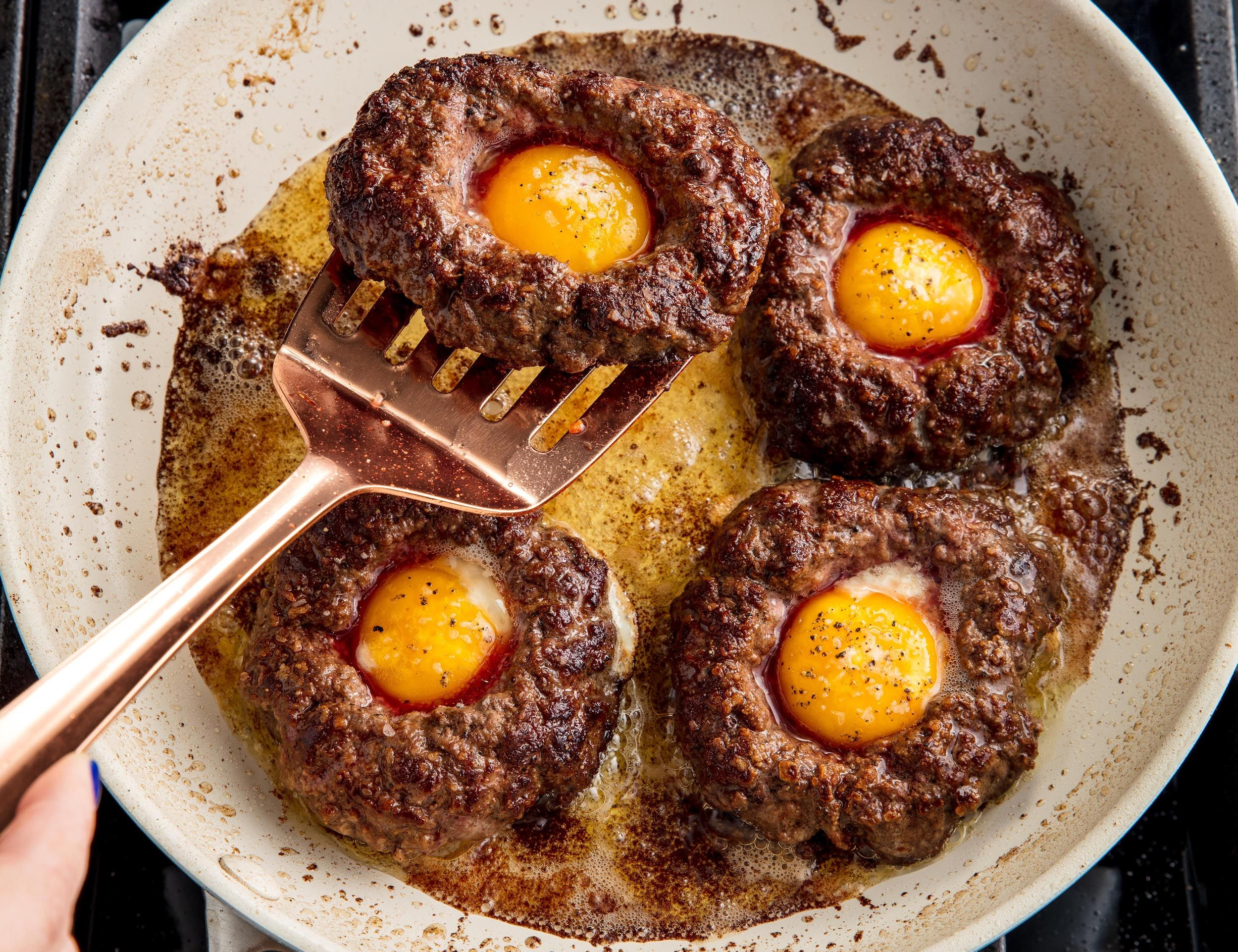 Egg-In-A-Hole Burgers