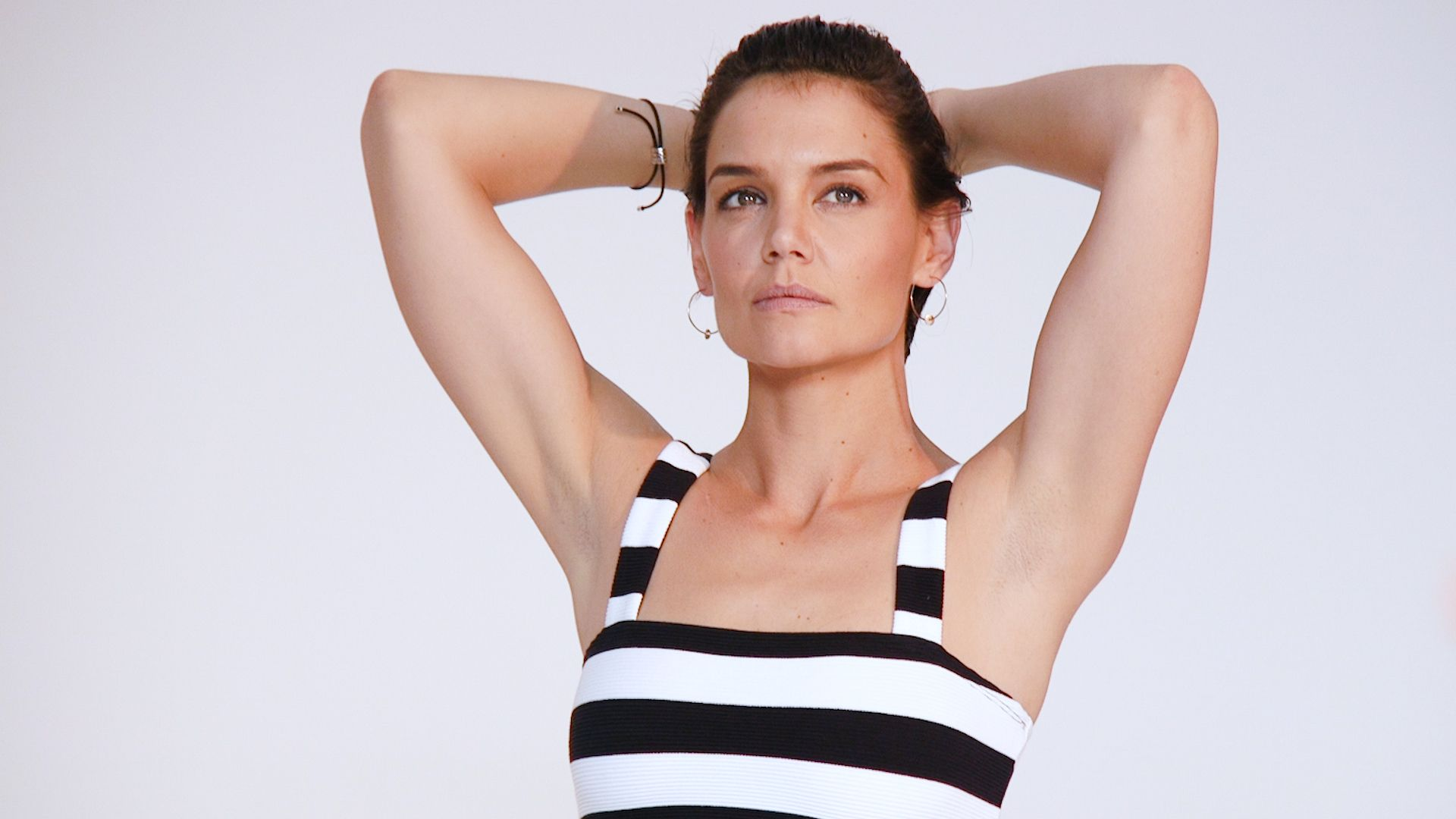 Katie Holmes Is Hotter Than Ever in a Blazer and a Bra Ensemble on Instagam