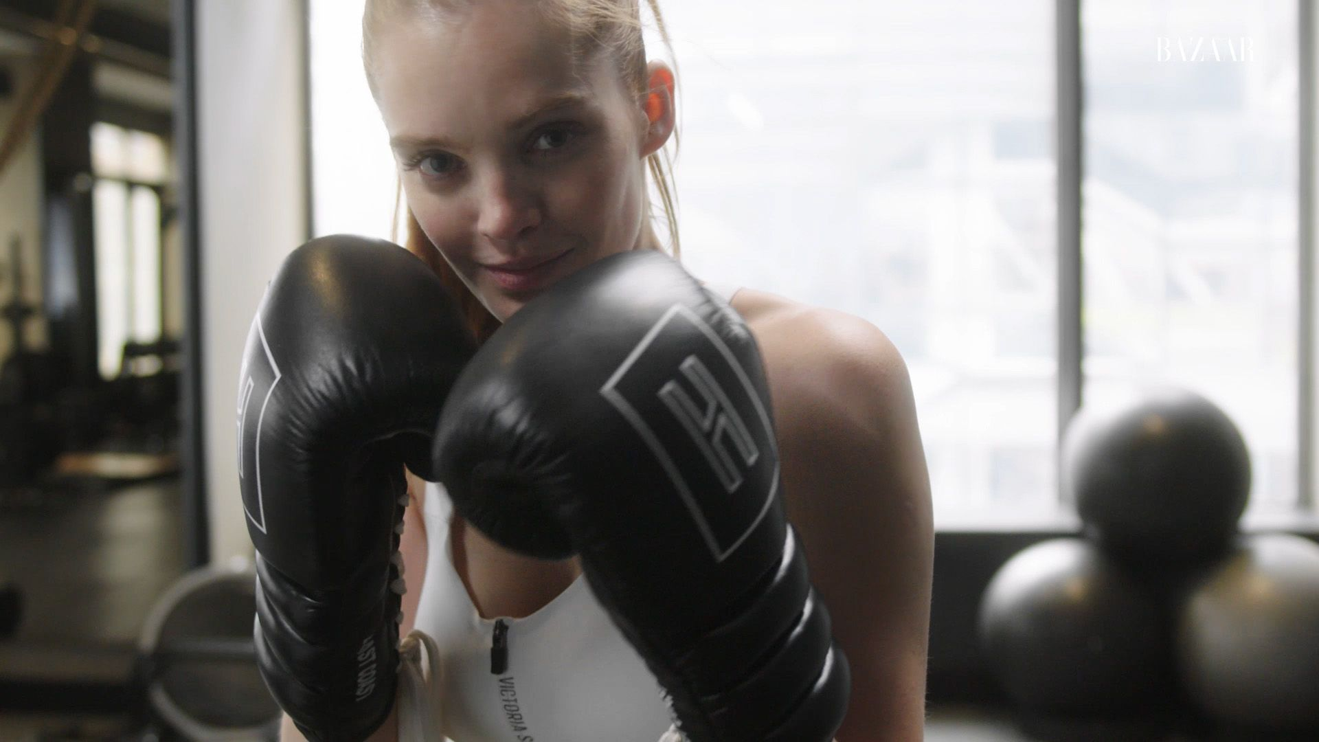 Watch Victoria's Secret Angel Alexina Graham's Intense Boxing Workout