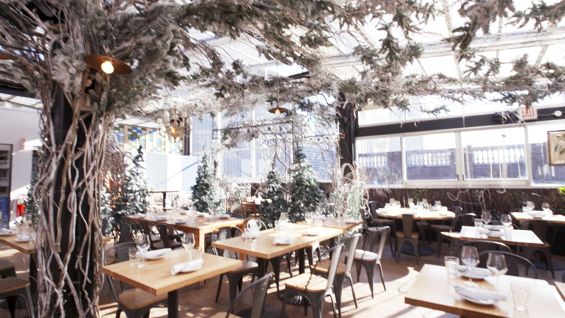 Serra Alpina by Birreria at Eataly Just Transformed Into a Winter Wonderland for The Holidays