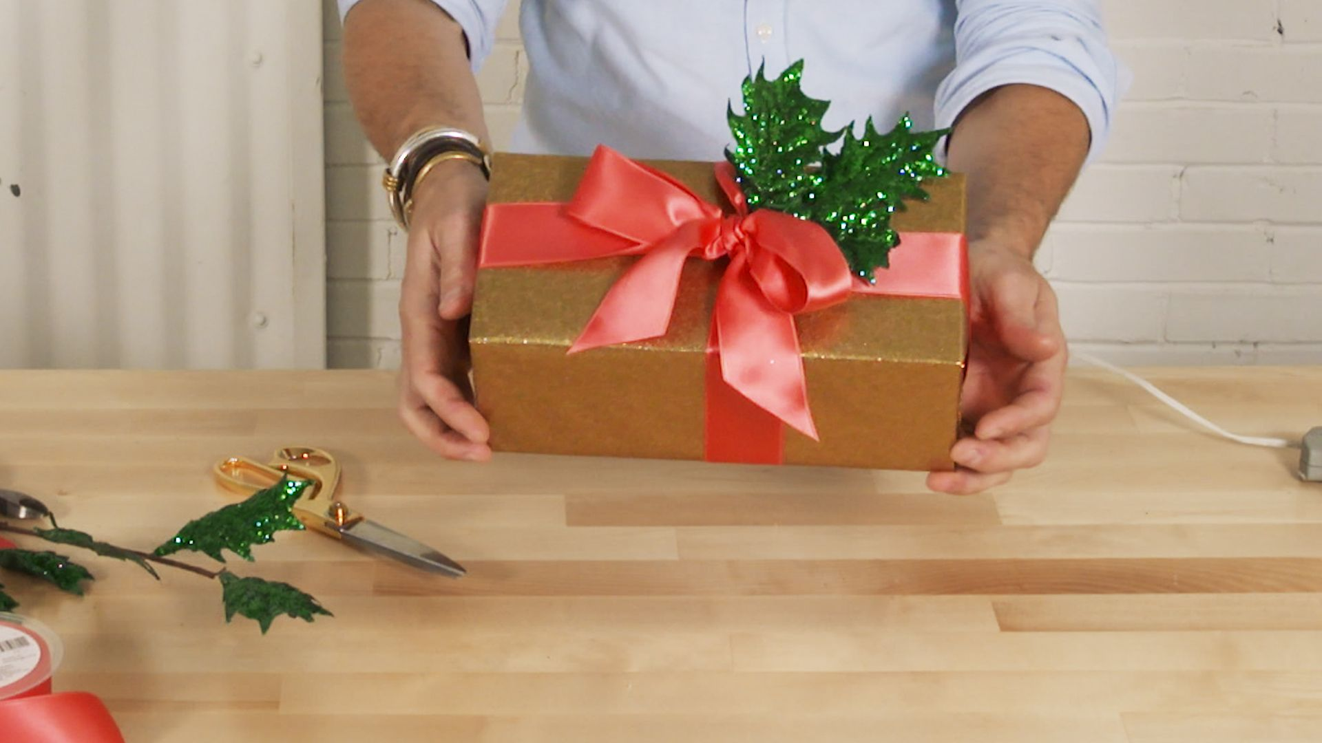 If You're Not Using a Glue Gun to Wrap Presents, You're Doing it Wrong