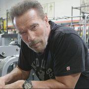 arnold schwarzenegger entrenamiento de brazos para conan