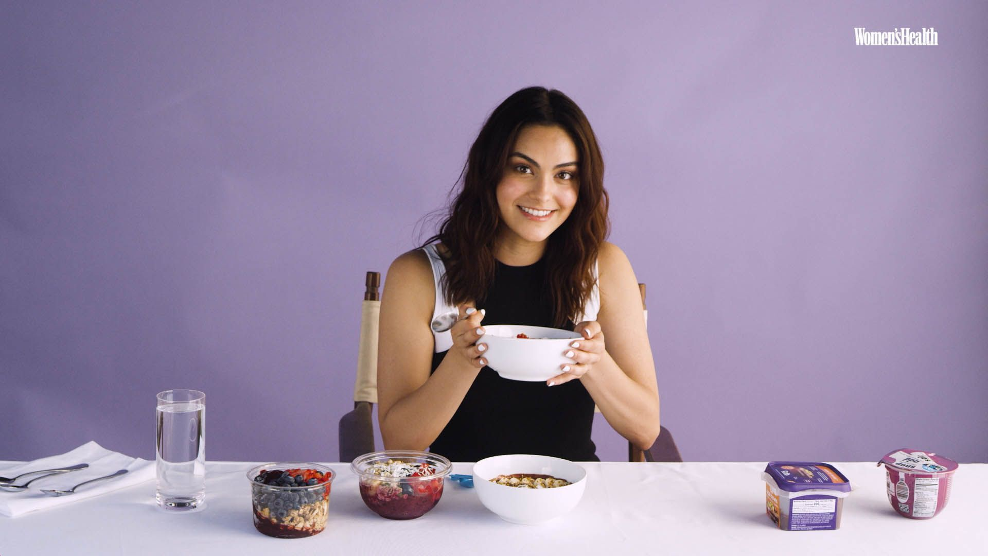 Watch Camila Mendes Taste-Test 6 Acai Bowls, Including Meghan Markle's Fave