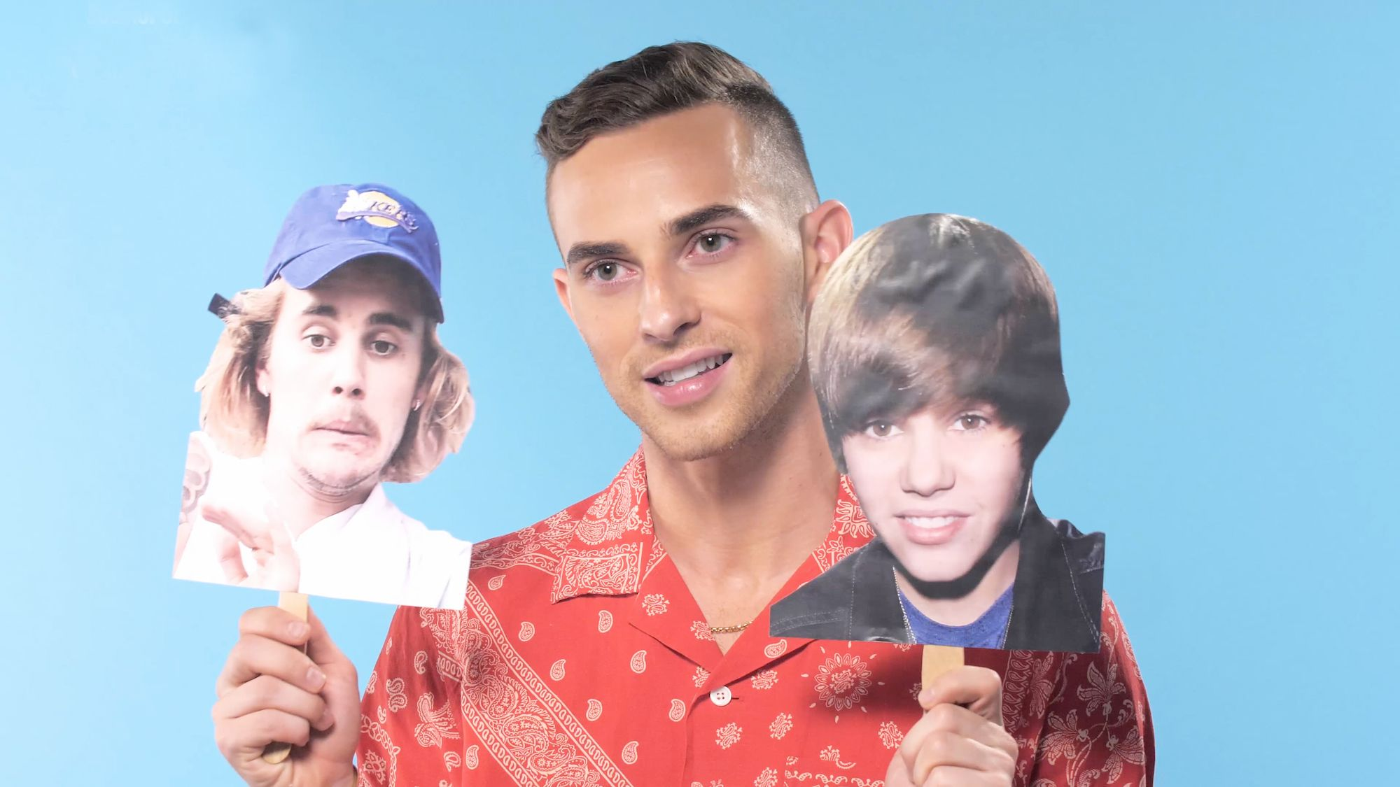 Adam Rippon Reflects on Justin Bieber's Many Hairstyles