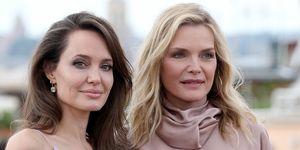 Angelina Jolie,  Michelle Pfeiffer, actrices, estreno malefica, malefica maestra del mal, cambio fisico Jolie, cambio Fisico Pfeiffer