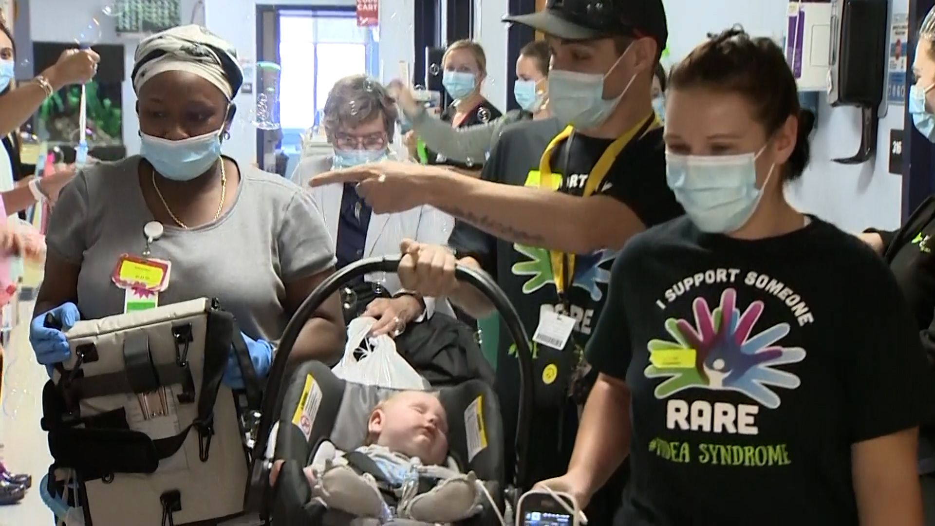 Baby who spent first 7 months of life in hospital care heads home to Adams