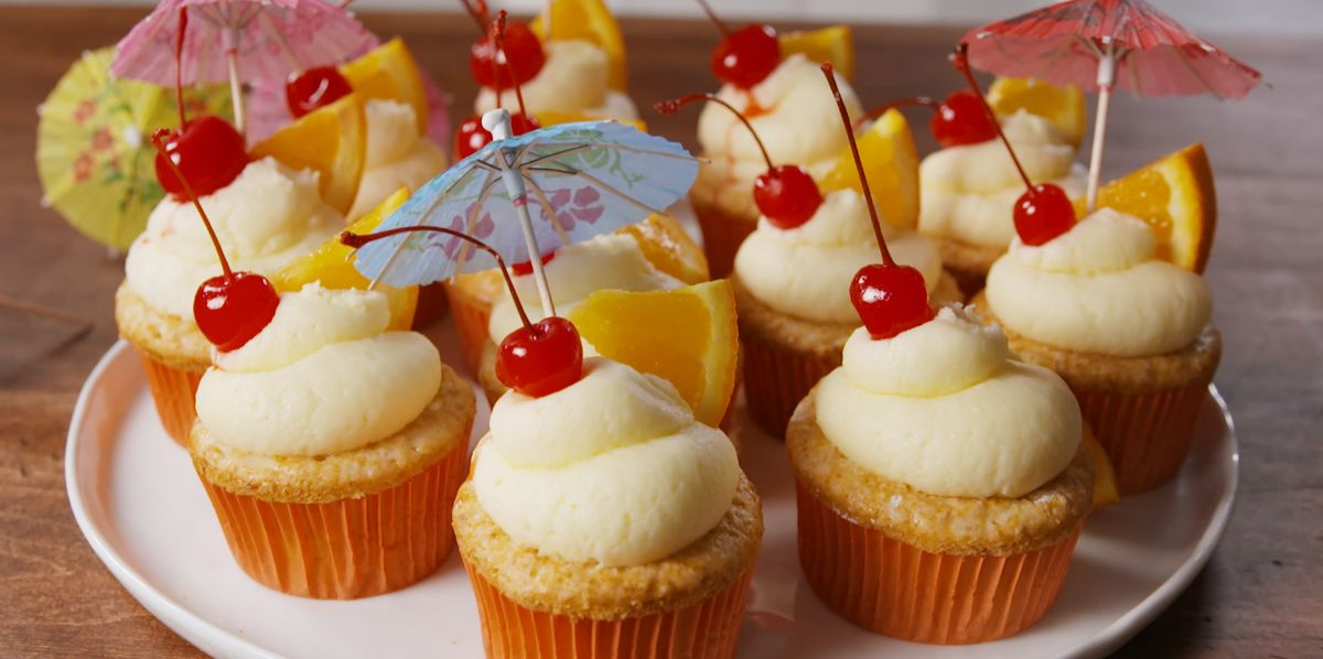 Best Bahama Mama Cupcakes Recipe How To Make Bahama Mama