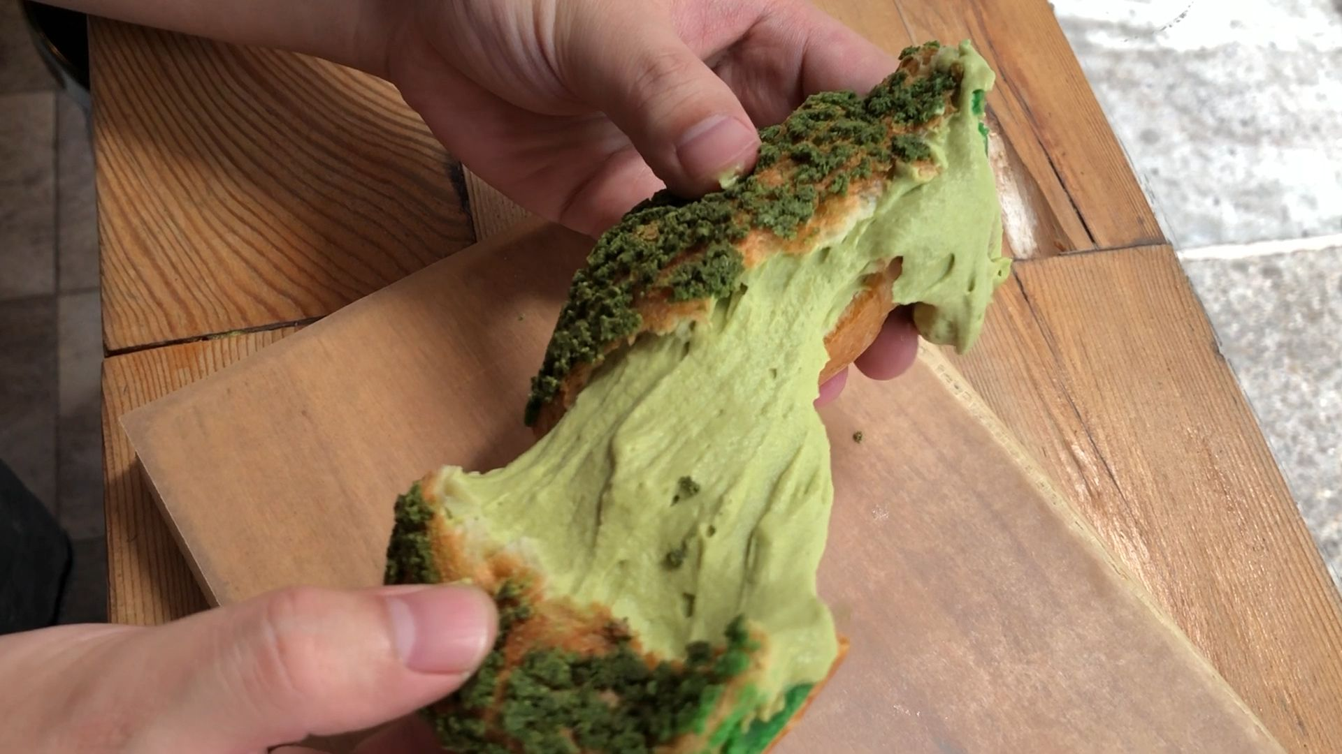 These Cream Puffs Are STUFFED With Matcha Cream