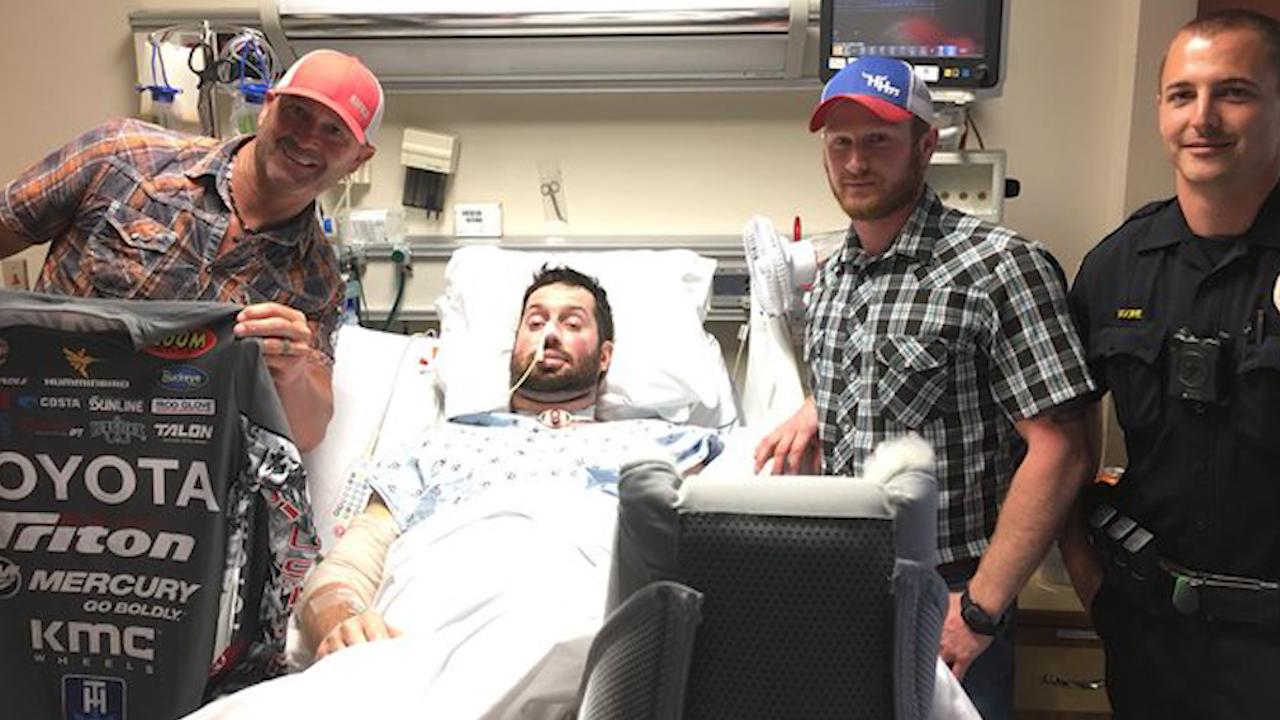 Injured BPD officer gets special visitor at the hospital