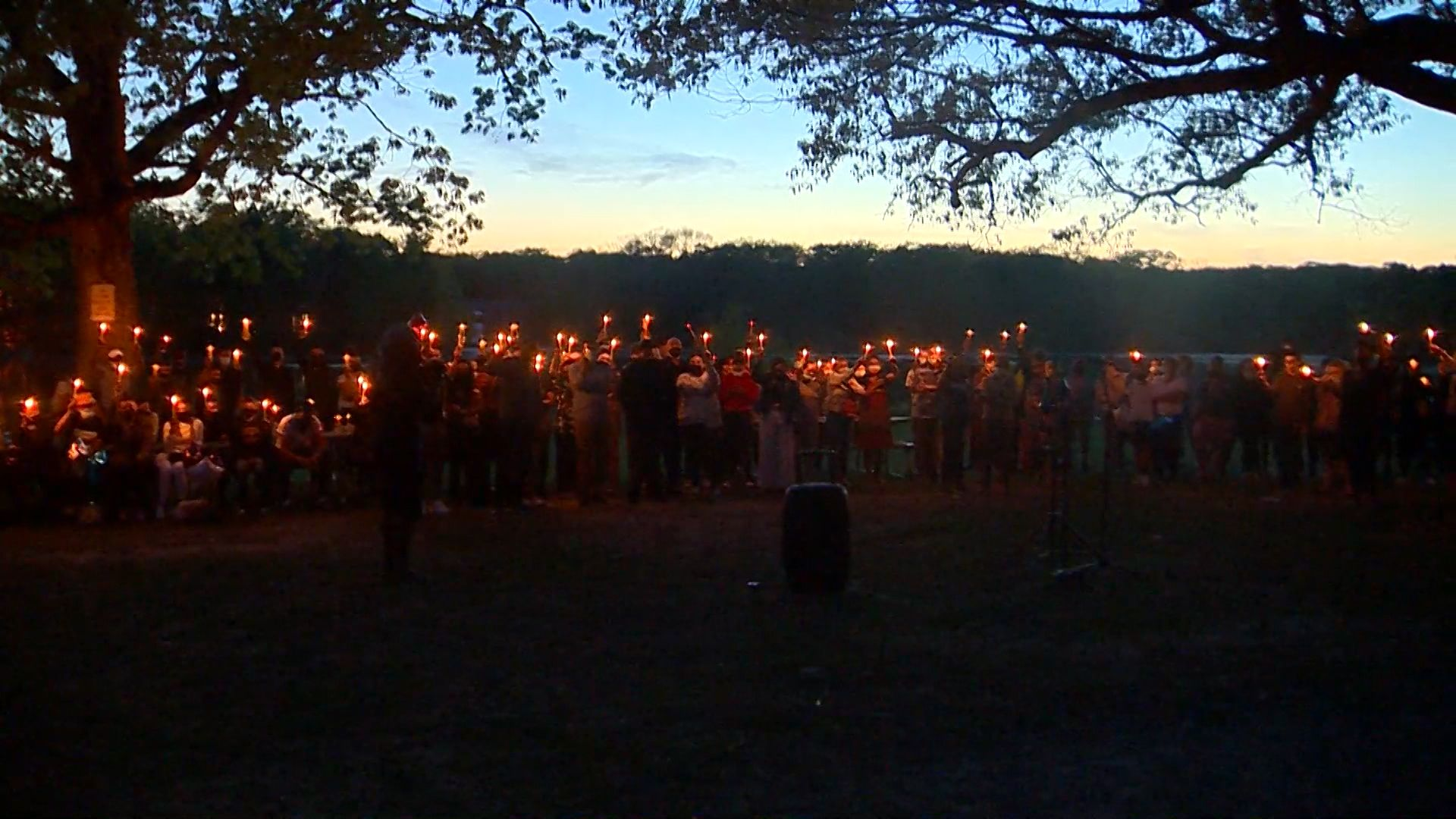 Candlelight vigil held for Brockton boys who drowned in lake at city park