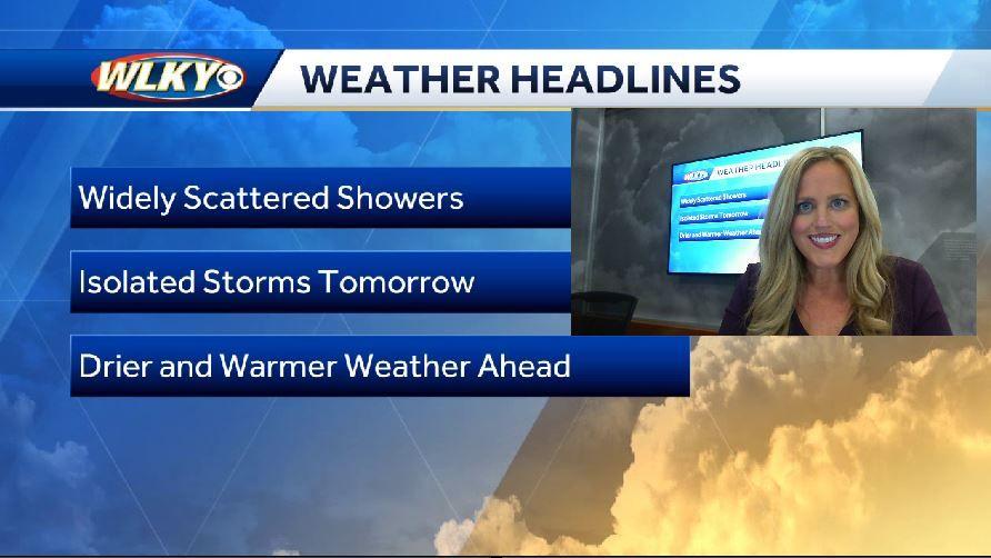 Seasonable temps and rain chances today