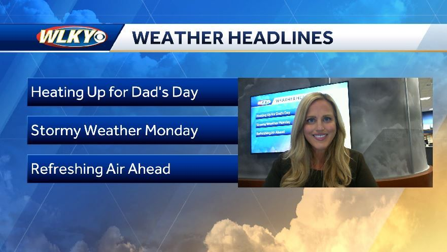 Hot temps for Father's Day
