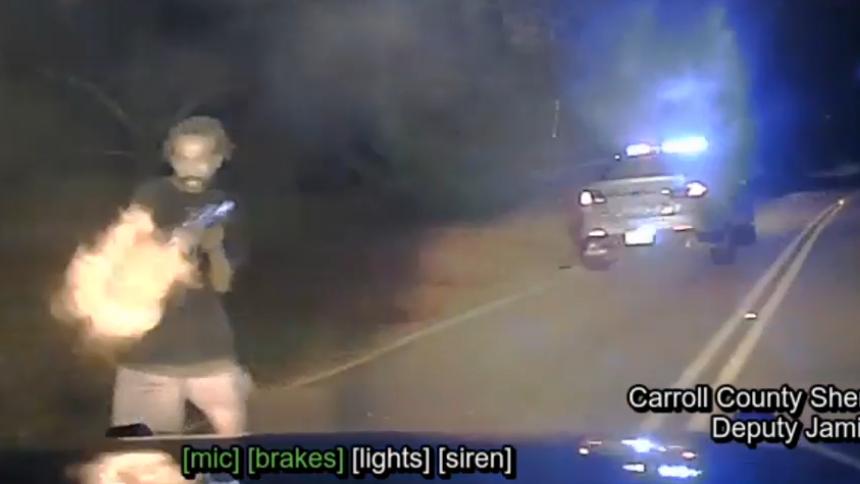 Dashcam video of deadly shooting in Carroll County, Georgia