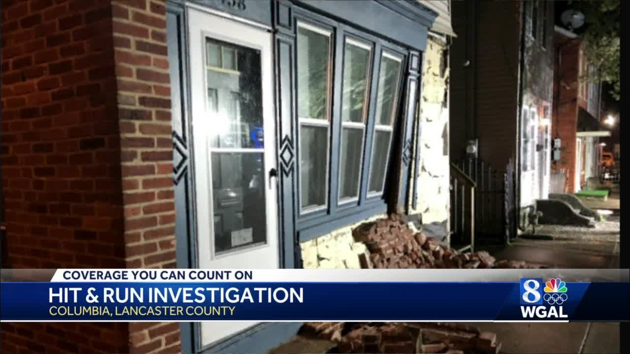 Police in Lancaster County seek hit-and-run driver who crashed into house