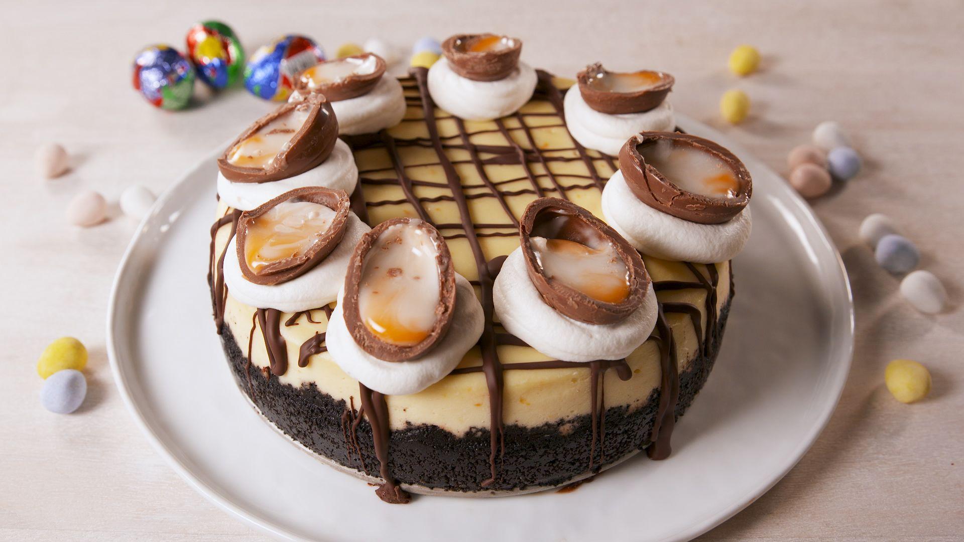 Cadbury Egg Cheesecake