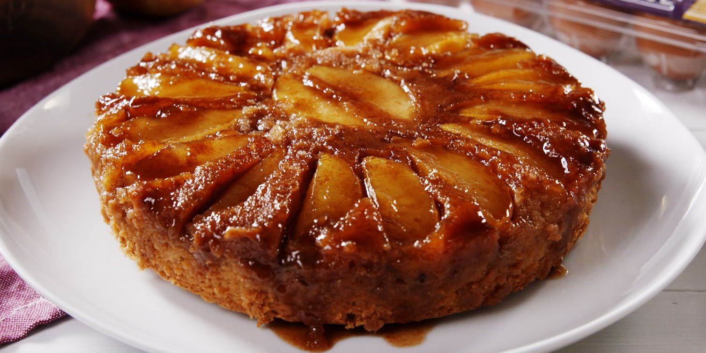 Best Caramel Apple Upside Down Cake Recipe How To Make Caramel
