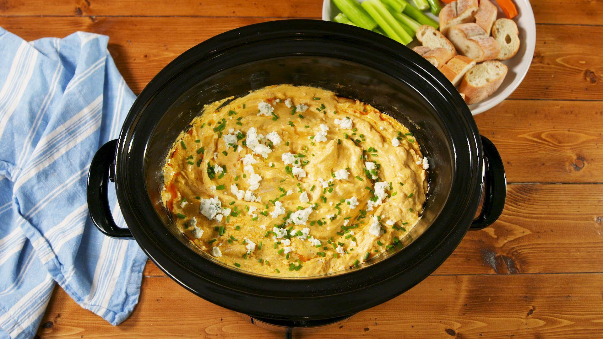 best crock-pot buffalo chicken dip - how to make crock-pot buffalo