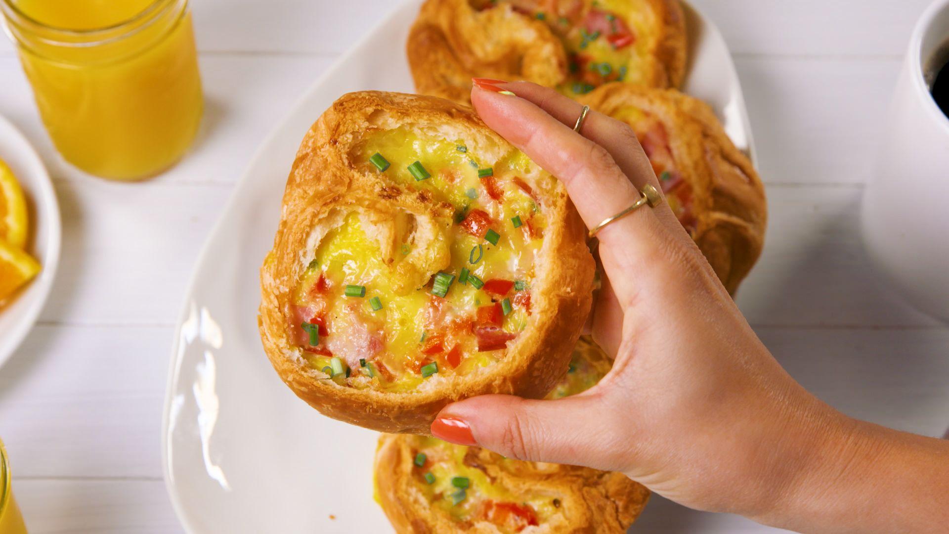 Croissant Breakfast Boats